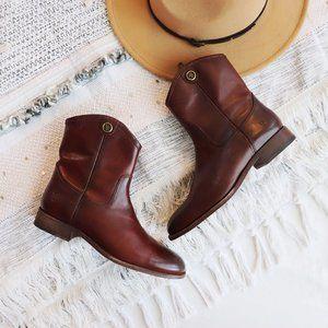 FRYE Melissa Button Short 2 Boots Redwood size 6.5
